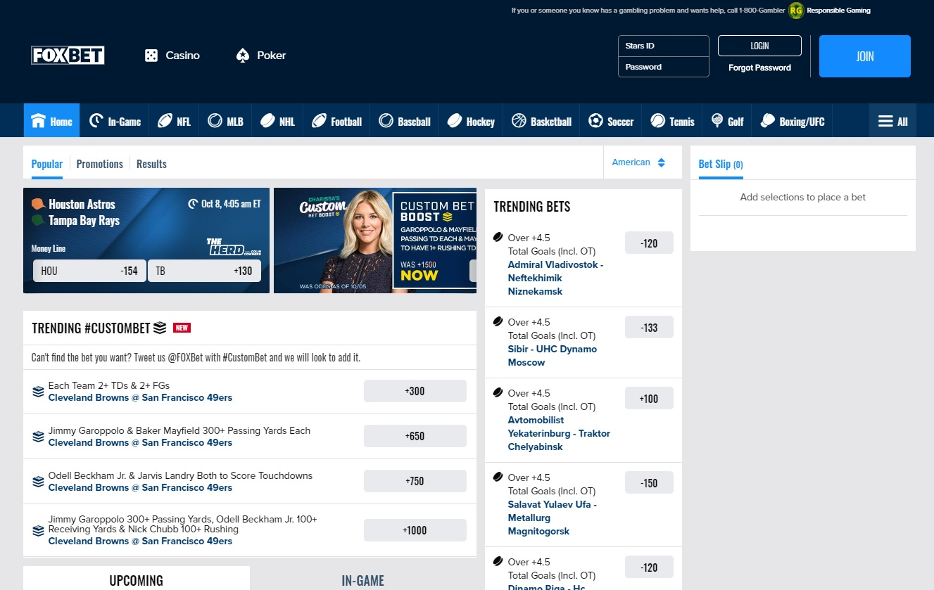 foxbet website screenshot