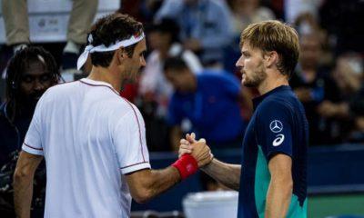 David Goffin and Roger Federer