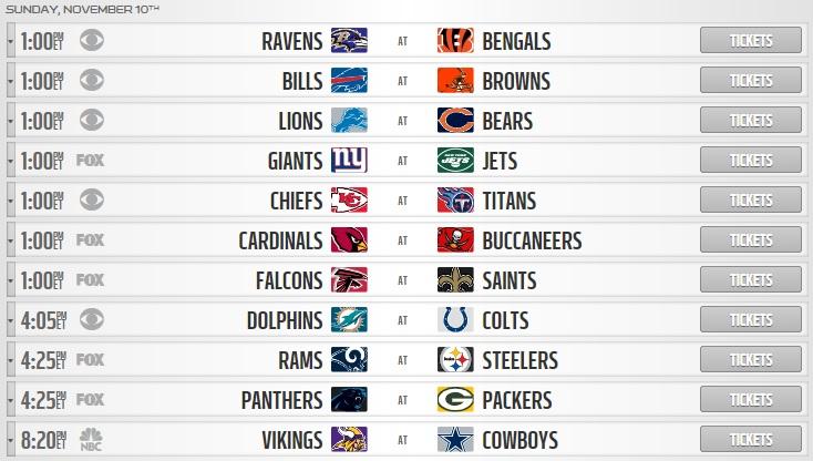 NFL betting picks week 10 sunday schedule