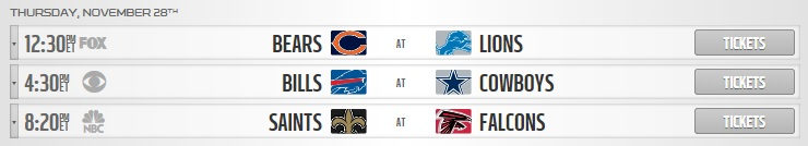 nfl thanksgiving day games schedule