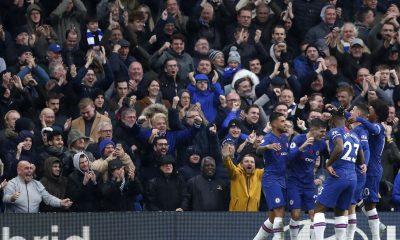 Chelsea fans celebrating