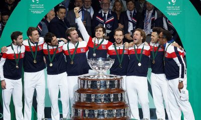 Davis Cup celebration