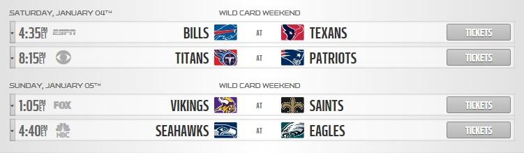 nfl wildcard round schedule