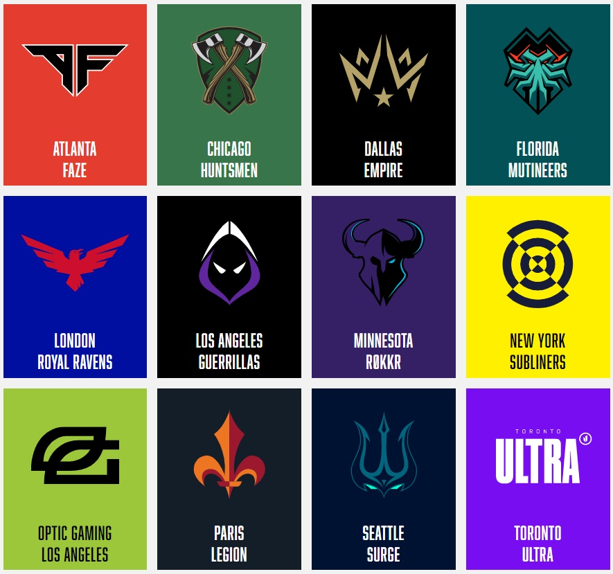 call of duty league teams