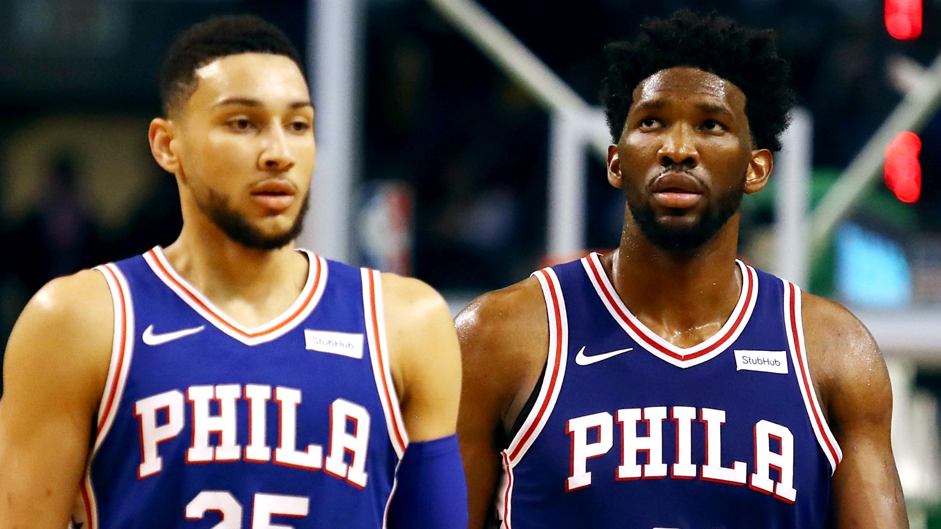Ben Simmons and Joel Embiid