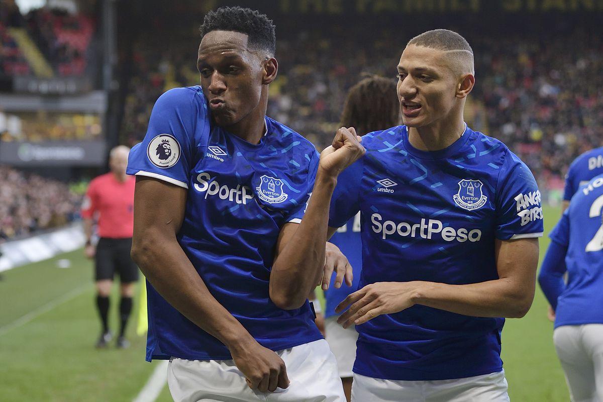 Richarlison and Mina from Everton