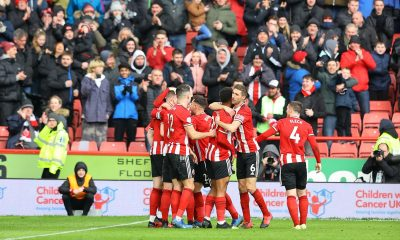 Sheffield United celebrating