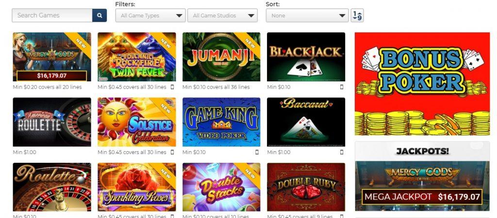 betrivers casino games