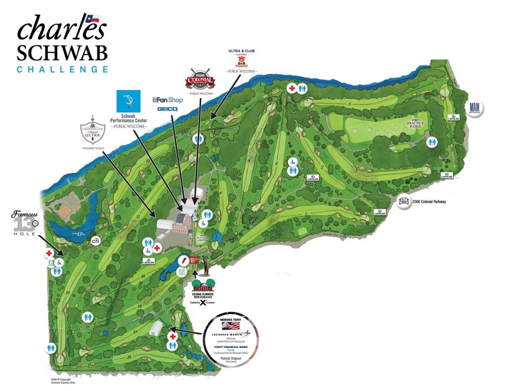 colonial country club course layout