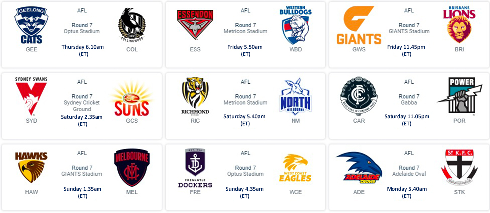 American Time AFL Round 7